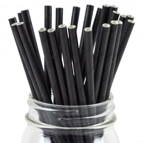 Black Straight Paper Straw (250)