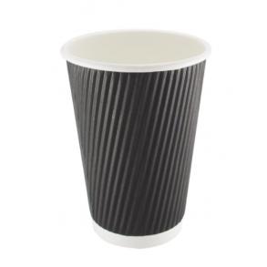 16oz Black Ripple Paper Cup