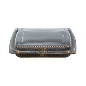 Black Microwavable Container + Lid (750cc -1250cc)