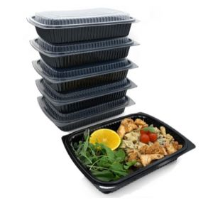 Black Microwaveable Container 1250cc