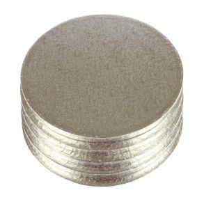 25cm - 10inch Round Double Thick Silver Cake Card