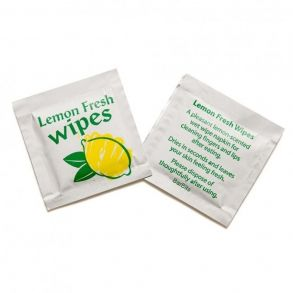 Small Lemon Scented Wet Wipes