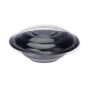 Black Salad Bowl + Lid (500cc - 800cc)