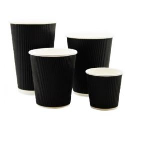 Go-Pak Black Ripple Hot Cups (8/12/16oz)