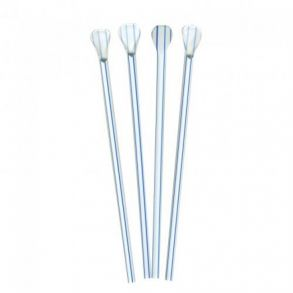 Straw Spoon Blue Striped (200)