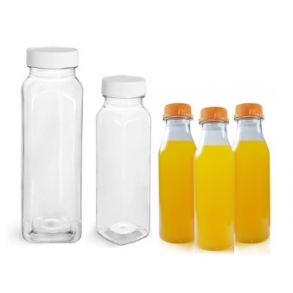 330ml Clear Plastic Bottle with White Lids