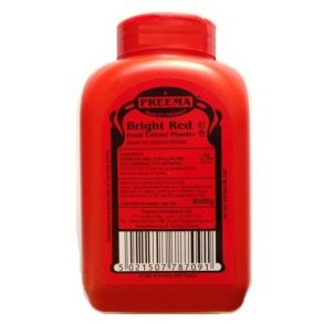 Bright Red Food Colouring Powder 500G