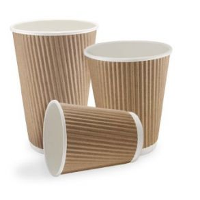 Ripple Kraft Paper Cups (4/8/12/16oz)