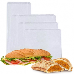White Greaseproof Paper Bag Strung (All Sizes)
