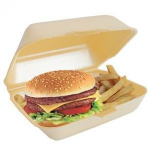 Linpac HP2 Burger & Chips Box