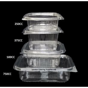 375cc Hinged Salad Container (500)