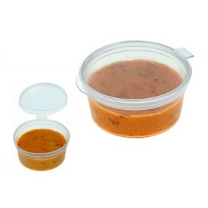 2oz Hinged Round Sauce Pot