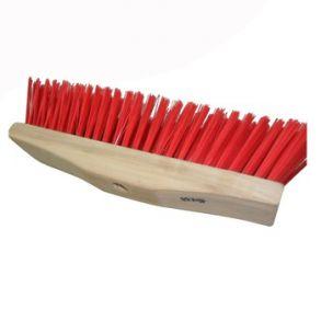 Red Wooden Broom Stiff Bristle