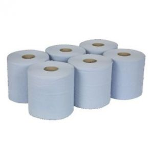 Blue Centrefeed Kitchen Roll 135m (6 Rolls)