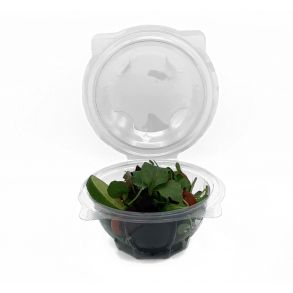 600cc Clear Hinged Round Salad Bowl