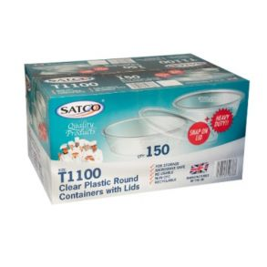 T1100 Satco Round Container with Lids