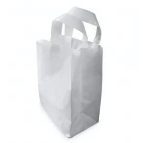 Medium SOS White Plastic Carrier Bag