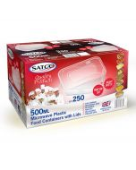 Satco 500ml Microwave Plastic Containers with Lids