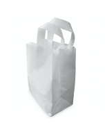 Large SOS White Plastic Carrier Bag