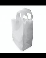 Medium SOS White Plastic Carrier Bag